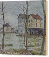 The Mills At Moret Sur Loing Wood Print