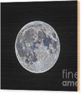 The Mini-moon Of March 5, 2015 Wood Print