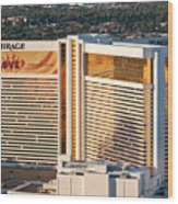 The Mirage Hotel Wood Print by Andy Smy
