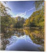 The Mirror Pond Wood Print