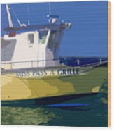 The Miss Pass A Grille Wood Print