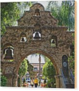 The Mission Inn Entrance Wood Print
