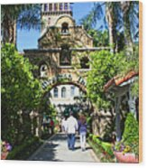 The Mission Inn Stage Coach Entrance Wood Print