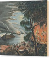 The Mississippi In Time Of War, 1865  Wood Print