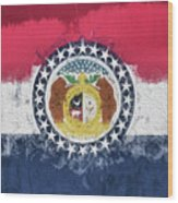 The Missouri Flag Wood Print
