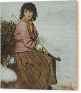 The Mistletoe Gatherer Wood Print