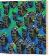 The Mob Wood Print