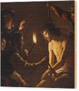 The Mocking Of Christ Wood Print