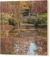 The Monet Bridge Wood Print