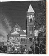 The Monongalia County Courthouse - Morgantown West Virginia Wood Print