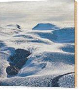 The Monte Rosa Glacier In Switzerland Wood Print