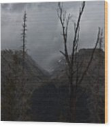 The Mood Of Weather Wood Print