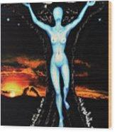 The Moon Goddess Wood Print