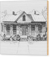 The Moore House Wood Print