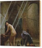 The Moorish Bath Wood Print