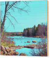 The Moose River At Lyonsdale Wood Print