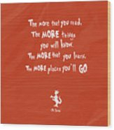 The More You Read Wood Print