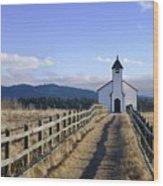 The Morley Church, Alberta, Canada Wood Print