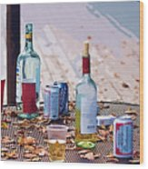The Morning After The Party Wood Print