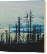 The Morning Burn Wood Print