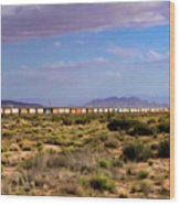 The Morning Train By Route 66 Wood Print