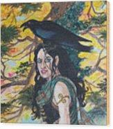 The Morrigan #2 Wood Print