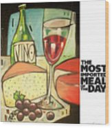 The Most Imported Meal Wood Print
