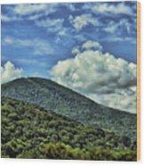 The Mountain Meets The Sky Wood Print