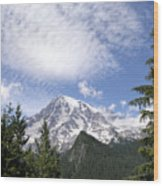 The Mountain  Mt Rainier  Washington Wood Print