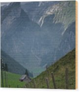 The Mountains Of Switzerland Wood Print