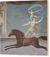 The Mounted Acrobats Wood Print