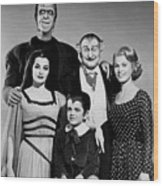 The Munster Family Portrait Wood Print