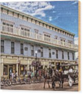 The Murray Hotel At Mackinac Island Wood Print