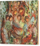 The Muses Wood Print