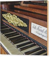 The Musical Keyboard Of Johann Friedrich Marty Antique Grand Piano Wood Print