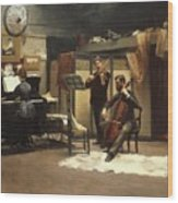 The Musicale, Wood Print