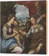 The Mystic Marriage Of Saint Catherine Wood Print