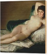 The Naked Maja Wood Print