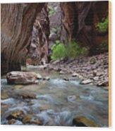 The Narrows, Zion National Park, Utah Wood Print