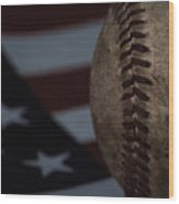 The National Pastime Wood Print