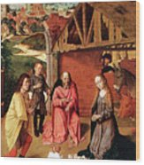 The Nativity By Gerard David  Wood Print