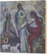 The Nativity Of The Angels Wood Print
