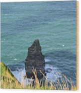 The Needle Off The Cliff's Of Moher In Ireland Wood Print