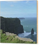 The Needle Rock Formation On The Cliff's Of Moher Wood Print