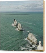 The Needles - Isle Of Wight Wood Print