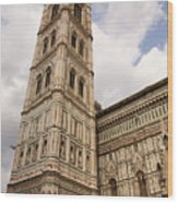 The Neo Gothic Facade Of The Duomo In Florence Wood Print