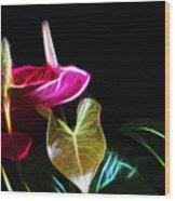 The Neon Garden Wood Print