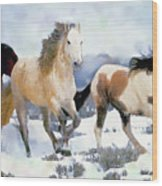 The Nevada Herd Wood Print