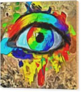 The New Eye Of Horus Wood Print