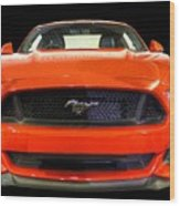 The New Mustang Wood Print